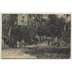 Tonkin - Hanoi / Vietnam: Paysage Au Village Des Chochons (Vintage Postcard)