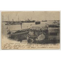 Tonkin - Haiphong / Vietnam: La Rade (Vintage Postcard 1905)