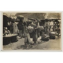 Soerabaia / Indonesia: Pasar Pabean Soerabaja (Vintage Photo PC)