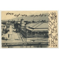 Kingston / Jamaica: King Street With Market (Vintage Postcard: 1906)
