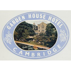 Garden House Hotel - Cambridge / England (Vintage Luggage Label)