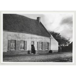 Hotel Du Musée 6: Outbuilding - Waterloo / Belgium (Vintage A.C.L. Archive Photo B/W ~1950s)