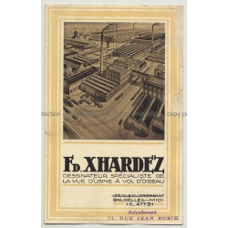 FD. Xhardez - Dessinateur (Vintage Advertisement Sheet: Art Nouveau / Belgium)