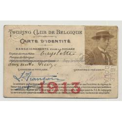 Carte D'Identité Touring Club De Belgique 1913 (Vintage ID Card Belgium)