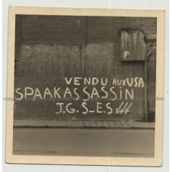 Vendu Aux USA - Spaak Assasin JGS E.S (Vintage Photo Of Graffiti 1964 B/W)