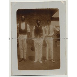 3 Well Dressed African Men / Fashion - Stlye (Vintage Photo B/W Africa 1910s/1920s)