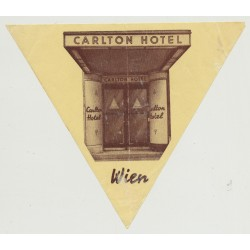 Carlton Hotel - Wien Vienna / Austria (Vintage Luggae Label)