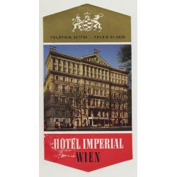 Hotel Imperial - Wien, Vienna / Austria (Vintage Luggae Label)