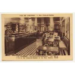 06000 Nice / France: Le Cyrano - Dining Room & Bar (Vintage Postcard)