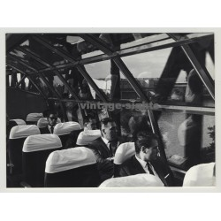 Rare Inside View: DB Deutsche Bahn Observation Car 'Dompfeil' (Vintage Photo 1964)