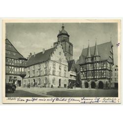 36304 Alsfeld / Germany: Marktplatz (Vintage Postcard 1950s)