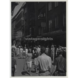 42103 Wuppertal Elberfeld: Busy Shopping On Poststrasse (Vintage Photo 1965)