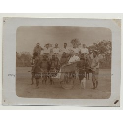 Kolonialherr In Push-Carry Trolley / Belgian Congo (Vintage Photo B/W 1920s)