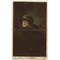 Portrait Of Beautiful Woman W. Hat / Buenos Aires (Vintage Postcard Argentina 1920s/1930s)