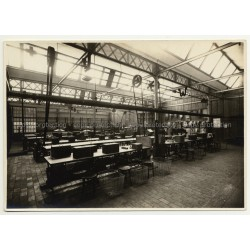 Overview Of Sewing Factory / Leather Upholstery (Vintage Photo A. Charlier B/W 20s/30s)