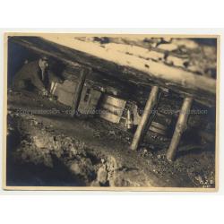 Underground Mining Machine / Coal Seam (Vintage Silver Gelatin Print B/W ~1930s)
