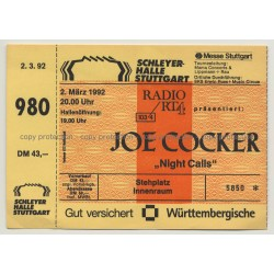 Joe Cocker - Night Calls Tour '92 Ticket N° 5850 Stuttgart - Unused (Vintage Memorabilia)