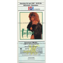 Tina Turner Break Every Rule '87 Ticket Mannheim - Unused (Vintage Memorabilia)