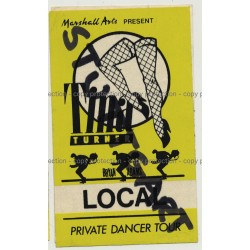 Tina Turner Private Dancer Tour - Stuttgart Backstage Pass (Vintage Memorabilia)