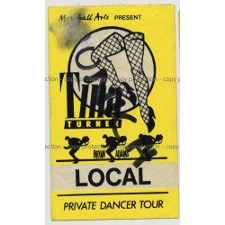 Tina Turner Private Dancer Tour - Munich Backstage Pass (Vintage Memorabilia)