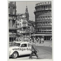 42103 Wuppertal Elberfeld: Alte Freiheit - Busy Street Scene 1964 (Vintage Photo)