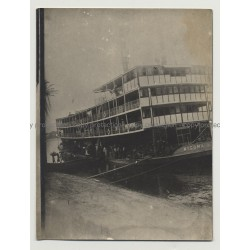 Kigoma River Boat - Sternwheeler - Steamboat / Congo (Vintage Photo B/W 1920s/1930s)