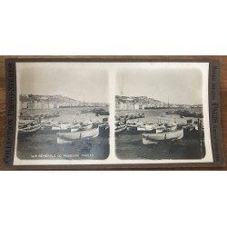General View Of The Pausilipe - Naples / Italy (Vintage Stereo Photo)