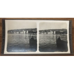 View Towards The Pausilipe - Naples / Italy (Vintage Stereo Photo)