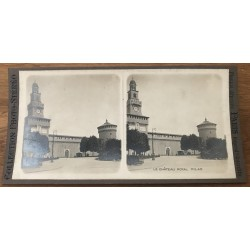 The Royal Castle - Milan / Italy (Vintage Stereo Photo)