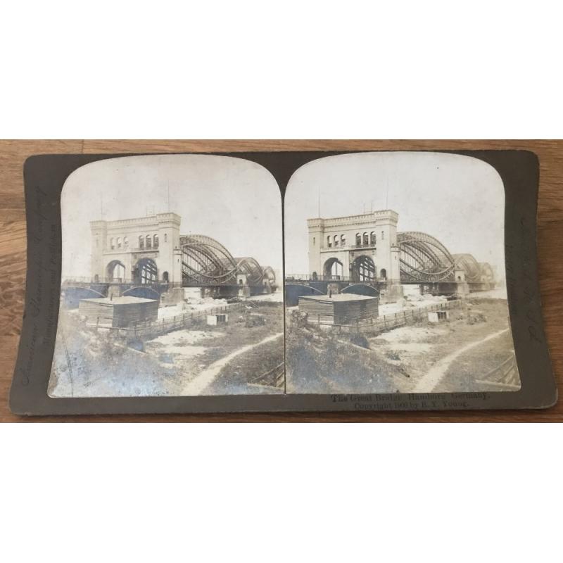 Great Bridge, Hamburg Germany (Vintage American Stereophonic Company Photo 1900)