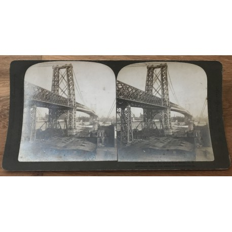 Brooklyn Bridge No.2 Over East River, N.Y. (Vintage American Stereophonic Company Photo 1904)