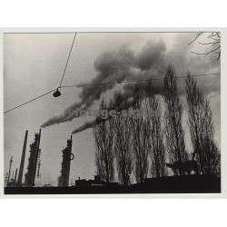46244 Bottrop / Germany: Smog Over Power Plant / Ruhrpott (Vintage Photo 1970s)