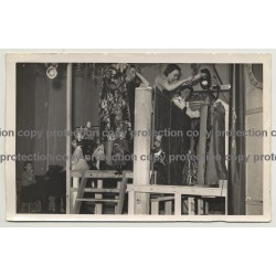 Backstage String Puppet Theatre / Czech Institute - London 1942 (Vintage Photo P/W)