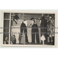 Backstage String Puppet Theatre 2 / Czech Institute - London 1942 (Vintage Photo B/W)