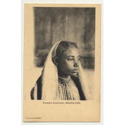 Femme Arabisée, Stanleyville - Congo / Arabic Woman (Vintage PC B/W)