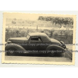 Side View Of Hudson Terraplane 1936 Cabrio - Congo? Africa (Vintage Photo B/W)