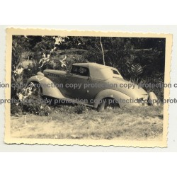 Hudson Terraplane 1936 Cabrio Stuck In Ditch - Congo? Africa (Vintage Photo B/W)