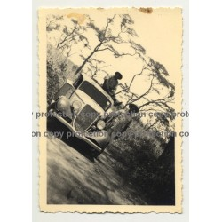 Modificated 1934 Ford Deluxe On Safari - Congo? Africa (Vintage Photo B/W)