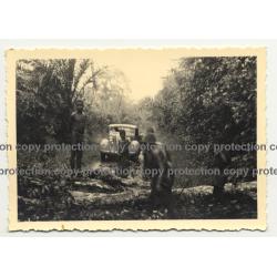 1936 Hudson Terraplane Stuck In Jungle / Natives  - Congo? (Vintage Photo B/W)