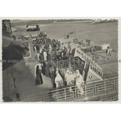 Mission De Kahemba (Congo Belge) At Melsbroeck Airport / Sabena (Vintage Postcard B/W)