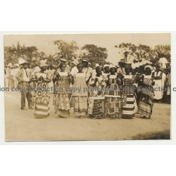 Group Of African Women & Men / Traditional Clothing (Vintage Photo PC ~1930s)