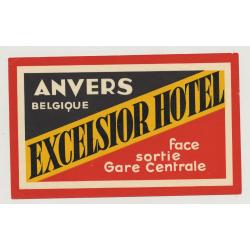 Excelsior Hotel - Anvers / Belgium (Vintage Luggae Label)