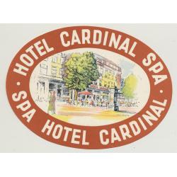 Hotel Cardinal - Spa / Belgium (Vintage Luggae Label)