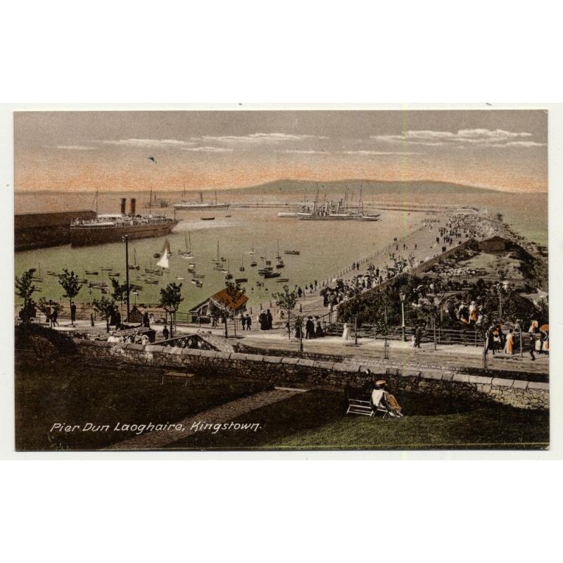 Kingstown / Ireland: Pier Dún Laoghaire (Vintage Colored PC)