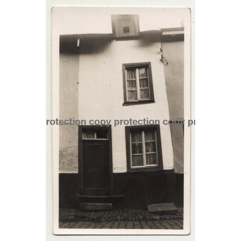 6980 La-Roche-En-Ardenne / Belgium: Old House Front (Vintage Photo B/W ~1930s)