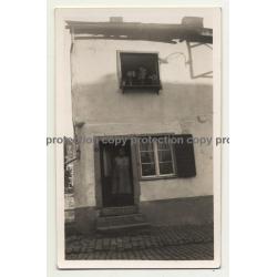 6980 La-Roche-En-Ardenne / Belgium: Old House Front 2 (Vintage Photo B/W ~1930s)