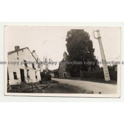 4980 Brume / Belgium: Houses & Chruch (Vintage Photo B/W 1934)