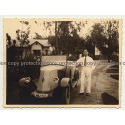 Colonial Master & Renault Type NN Cabrio / Congo (Vintage Photo B/W 1930s)