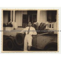 Colonial Master & Renault Type NN Cabrio 2 / Congo (Vintage Photo B/W 1933)