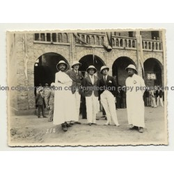 Kisantu: Colonial Masters & Missonaries At Congrès Eucharistique (Vintage Photo B/W 1933)